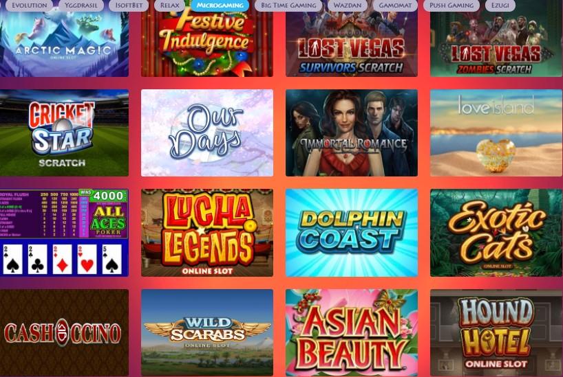 casino gods microgaming slots