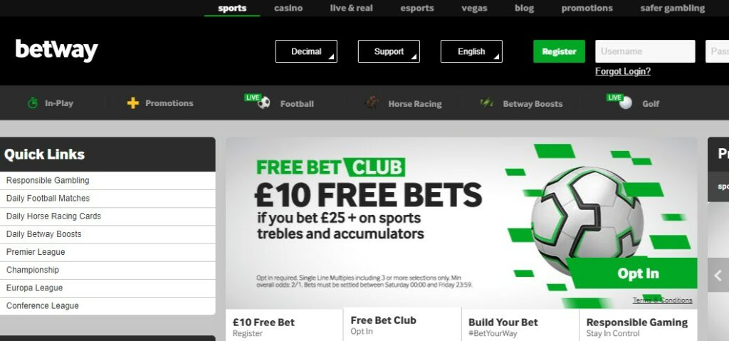 betway casino uk