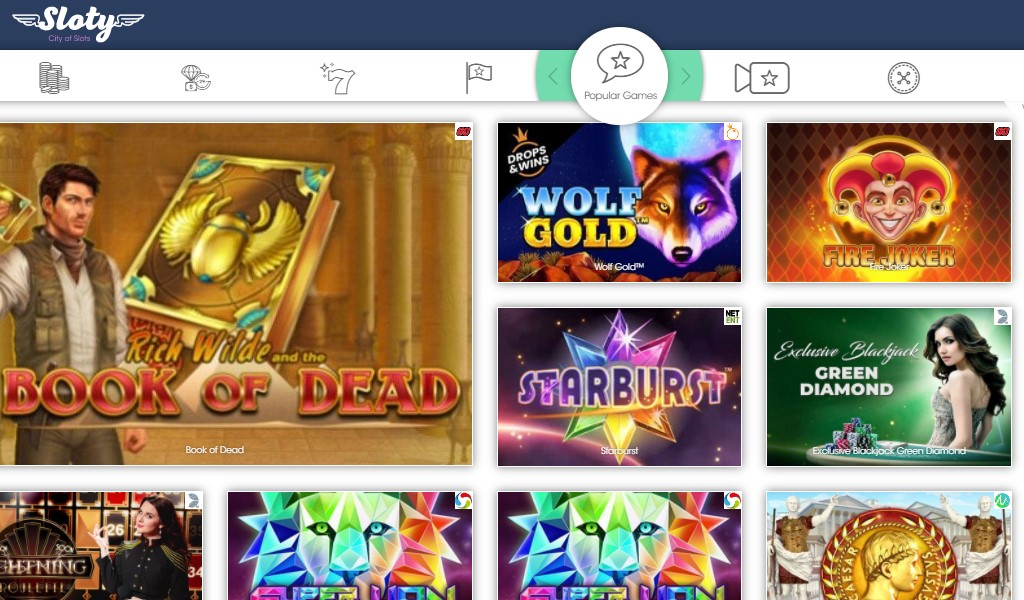 check the sloty casino quality features and find a favourite game